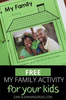 Find activities and ideas for your My Family or All about Me theme unit or lesson plans in your preschool or pre-k classroom. Kids can draw pictures or add a photo of their family on this free printable activity sheet. Use as a take-home activity to get parents involved. Display on the bulletin board or bind all your students' pages together to make a class book to share at circle time or leave in your class library. Use at Thanksgiving or during the first week too Phonemic Awareness Activities, Language Activities, Classroom Activities, Family Activities, Classroom Ideas, Class Library, Class Books, Family Board Preschool, Displaying Family Pictures