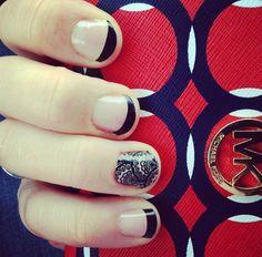 Black Tip with Lace Noir