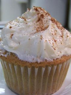 Vanilla Chai Tea Latte Cupcakes~  Captures the essence of vanilla chai tea latte in cupcake form.