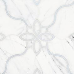 Freesia Statuario and Latin Blue Waterjet Mosaic - 13 x 18 - 100578087 Blue Mosaic, Marble Mosaic, Mosaic Glass, Mosaic Tiles, Marble Stones, Stone Tiles, Polished Porcelain Tiles, Parts Of Stairs, Modern Kitchens