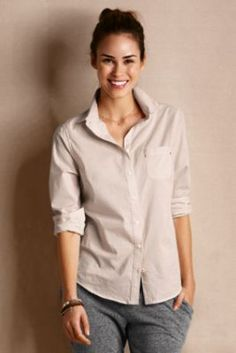Women's Patterned Buttondown Shirt from Lands' End Canvas