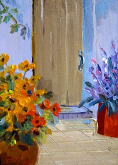Fall Flowers, painting by artist Delilah Smith