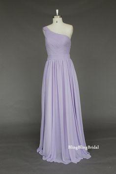 Lavender Chiffon Bridesmaid Dress