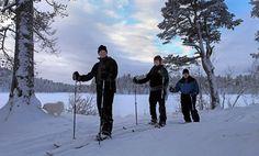 Cross country skiing in Nellim in Lapland. Activities in Saariselkä http://www.saariselka.com/individual/activities