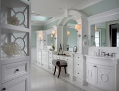 MASTER Bathroom Vanity With Makeup Area Design, Pictures, Remodel, Decor and Ideas - page 13
