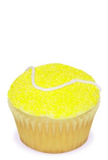 tennis balls cup cake! Ashley we gotta make these for the banquet this year!!