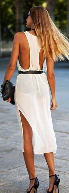 Flowy open summer dress