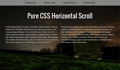 Pure CSS Horizontal Scroll, #Code, #CSS, #CSS3, #HTML, #HTML5, #Resource, #Responsive, #Scroll, #SCSS, #Slider, #Snippets, #Transition, #Web #Design, #Development