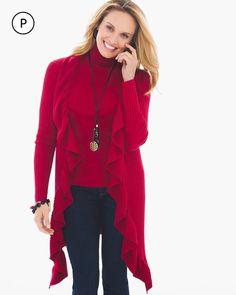 Chico's Women's Petite Biya Cardigan, Renaissance Red, Size: 2P (12P/14P L)