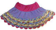 Rainbow Skirt, Toddler Skirt, Girls Skirts, Little Girl Skirt, Handmade Skirt, 3 Tiered Skirt, Twirl Skirt, Polka Dots Skirt