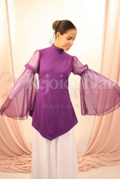 V Tunic w/Angel Wing Sleeve - Praise & Worship Dance Wear