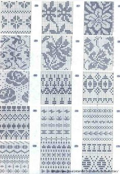 flowers free knit chart pattern fair isle