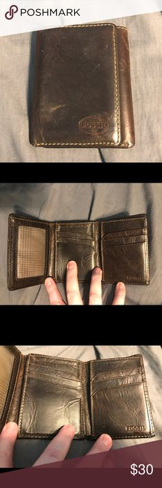 WALLET TRIFOLD PULL OUT FLAP ZIPPER ID POCKET NEW TAN GIFT IDEA FREE SHIPPING