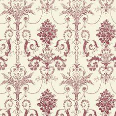 Josette Cranberry/Off White Wallpaper laura ashley