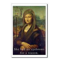 Mona Lisa Chemo Postcards (Package of 8)> No Eyebrows> The Gazoonga Sisters