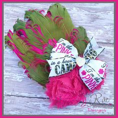 Im the pink in a house of camo feather pad by LinsayRaeDesigns, $10.00