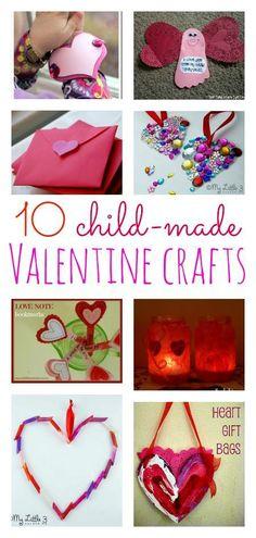 10 Child Made Valentine Crafts at @BabyCenter