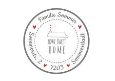 24 personalisierte Adress-Aufkleber Sticker Home  von Lottes Laden auf DaWanda.com