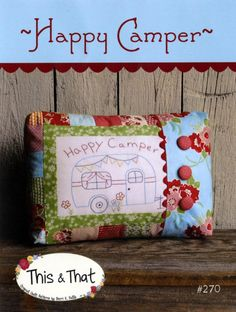 Happy Camper Pillow Pattern