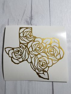 Texas Roses vinyl decal for cars walls yeti tumblers cups laptops windowshome bumper sticker phones iPhones walls windows tumblers car Truck Stickers, Truck Decals, Bumper Stickers, Decals For Cars, Laptop Stickers, Decals For Yeti Cups, Yeti Decals, Vinyl Decals, Clock Tattoo Design