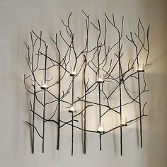 Twiggy Metal Wall Candle Holder  | Crate and Barrel