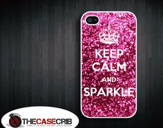 Keep calm and Sparkle iPhone 4s and iPhone 4 Case, Cover. $15.99  via Etsy. I love sparkles omg