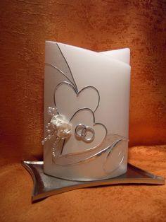Hochzeitskerze  611 mit Herzen von KerzenundGeschenke auf DaWanda.com