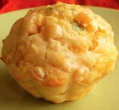 """Cornbread Muffins: """"What a yummy, moist and flavorful muffin. The cheddar, corn kernels, green onions and sour cream work so well together."""" -Lalaloula"""