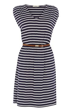 Ahoy Sailor! How cute is this nautical inspired jersey dress