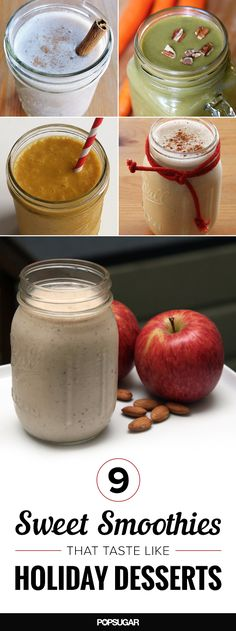Curb dessert cravings with holiday-inspired smoothies.