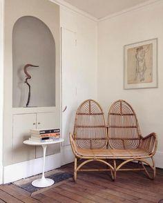 Fauteuil en bambou, double assise