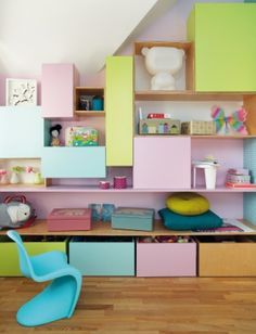 Colorful storage system for children