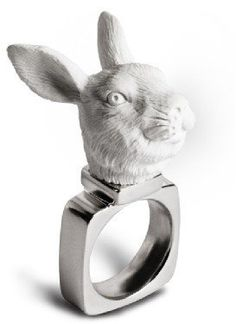 #bouf.com                 #ring                     #Rabbit #Ring #from #Haoshi #Design #Made #haoshi #Design #�53.00 #Bouf       Rabbit X Ring from Haoshi Design | Made By haoshi Design | �53.00 | Bouf                                http://www.seapai.com/product.aspx?PID=1295561