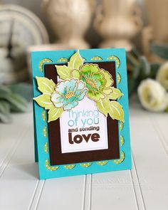 Sending Love Card by Dawn McVey for Papertrey Ink (July 2018)