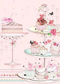 Happy Birthday my PTHBS! Lots of love and hugs to you, have a fabulous day! Happy Birthday Images, Birthday Messages, Happy Birthday Wishes, Birthday Greetings, It's Your Birthday, Birthday Ideas, Cupcake Illustration, Cupcake Art, Cupcake Tier