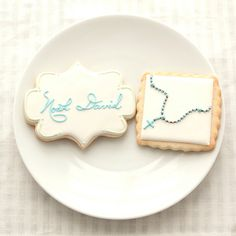 First Communion Cookie Favors Rosary & Name by PastryTartBakery