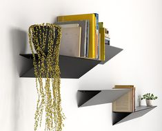 Estudio Carme Pinós have designed their first furniture collection, including various styles of modular shelving and a wardrobe that hangs freely from the wall. Hanging Bookshelves, Modular Shelving, Dezeen, Furniture Collection, Furniture Decor, Floating Shelves, Objects, Storage, Wall