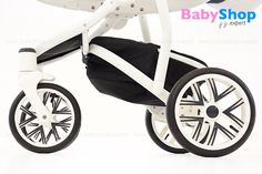 Kombikinderwagen Torino 3in1 - 4 Lufträder, Vorderräder schwenkbar und feststellbar #babyshopexpert #kombikinderwagen #torino #3in1