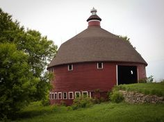 The Round Barn by Lori Ende on Capture Minnesota // The round barn in Hassan/Rogers, MN was built by the Burley family from Germany who were barrel makers. They used the same concept for barrel making to build the round barn when they settled in Hassan Township in the early 1900s.