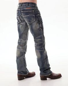 B Tuff Mens Blue Cotton Denim Jeans Bootcut Casey – The Western Company ba32ddec2b
