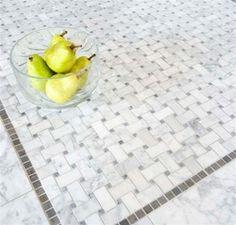 Basketweave mosaic tiles avail in Bianco Carrara Marble, Crema Marfil marble, Calacatta Marble. and Glazed Ceramic Tile Bath Tiles, Bathroom Floor Tiles, Shower Floor, Mosaic Tiles, Marble Mosaic, Calacatta Marble, Shower Tiles, Marble Bathrooms, Downstairs Bathroom