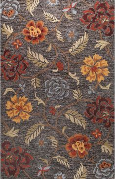Bashian Verona Connecting Roses Black Rug
