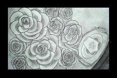 Rosas para mi amor - Lápiz carbón - 35x24
