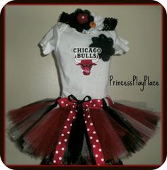 Chicago Bulls Tutu outfit complete with matching headband! See more teams and fun stuff @: www.etsy.com/shop/PrincessPlayPlace