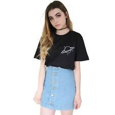 Planet Planets Space Tumblr Grunge T-Shirt Top