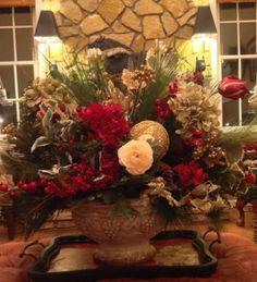Christmas Centerpiece  Cranberry Cottage