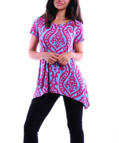 Another great find on #zulily! Fuchsia Scroll Sidetail Top #zulilyfinds