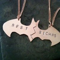 For ANGELA Batman Bff necklaces