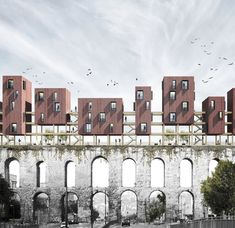 superspace suggests housing volumes for valens archway