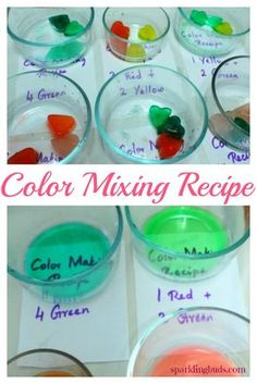 Color mixing activity for toddlers and preschoolers. Made colored ice to do this fun color mixing activity.